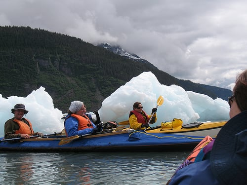 Kayak in Prince William Sound